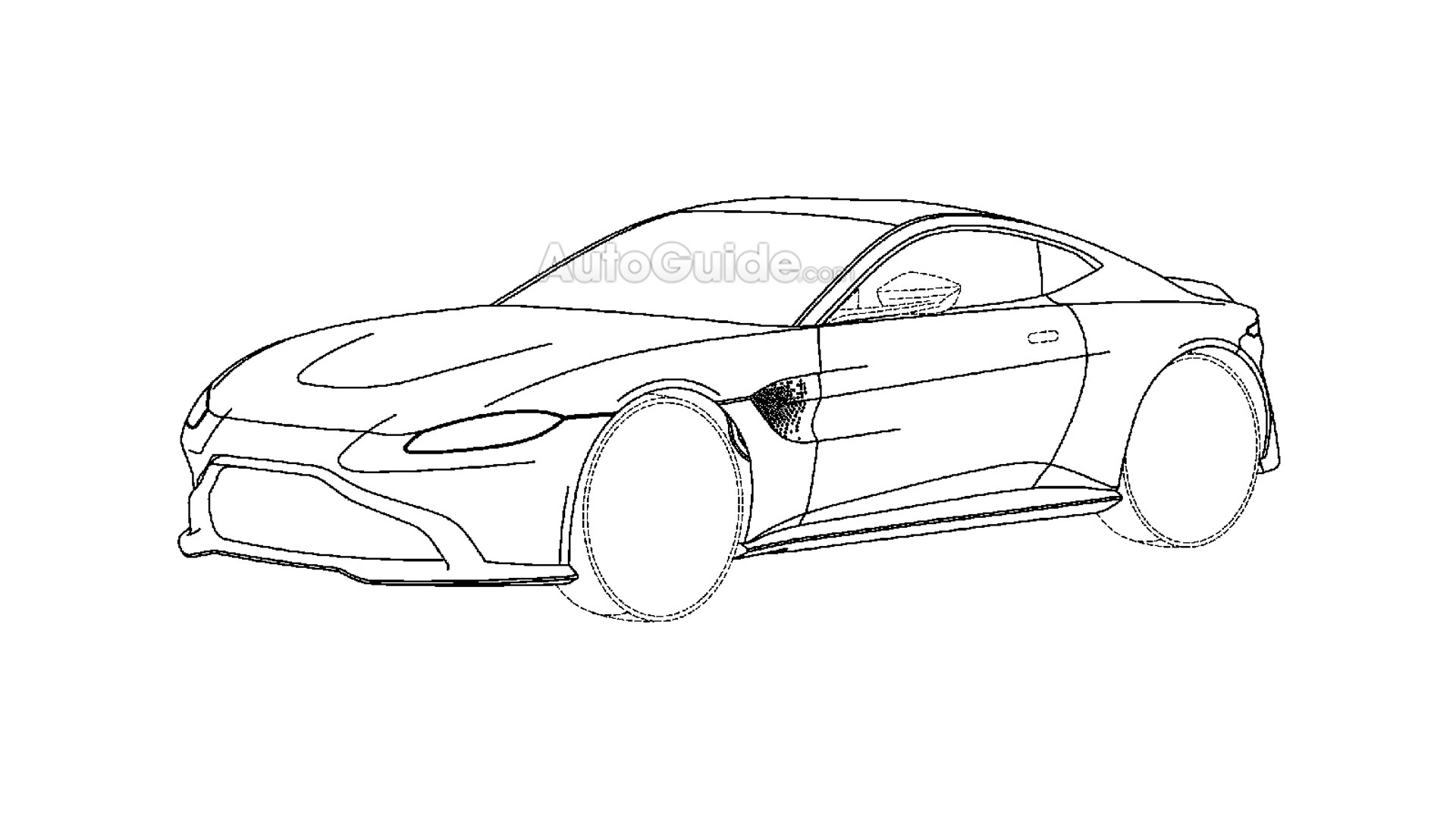 New Aston Martin Vantage Revealed In Patent Drawings