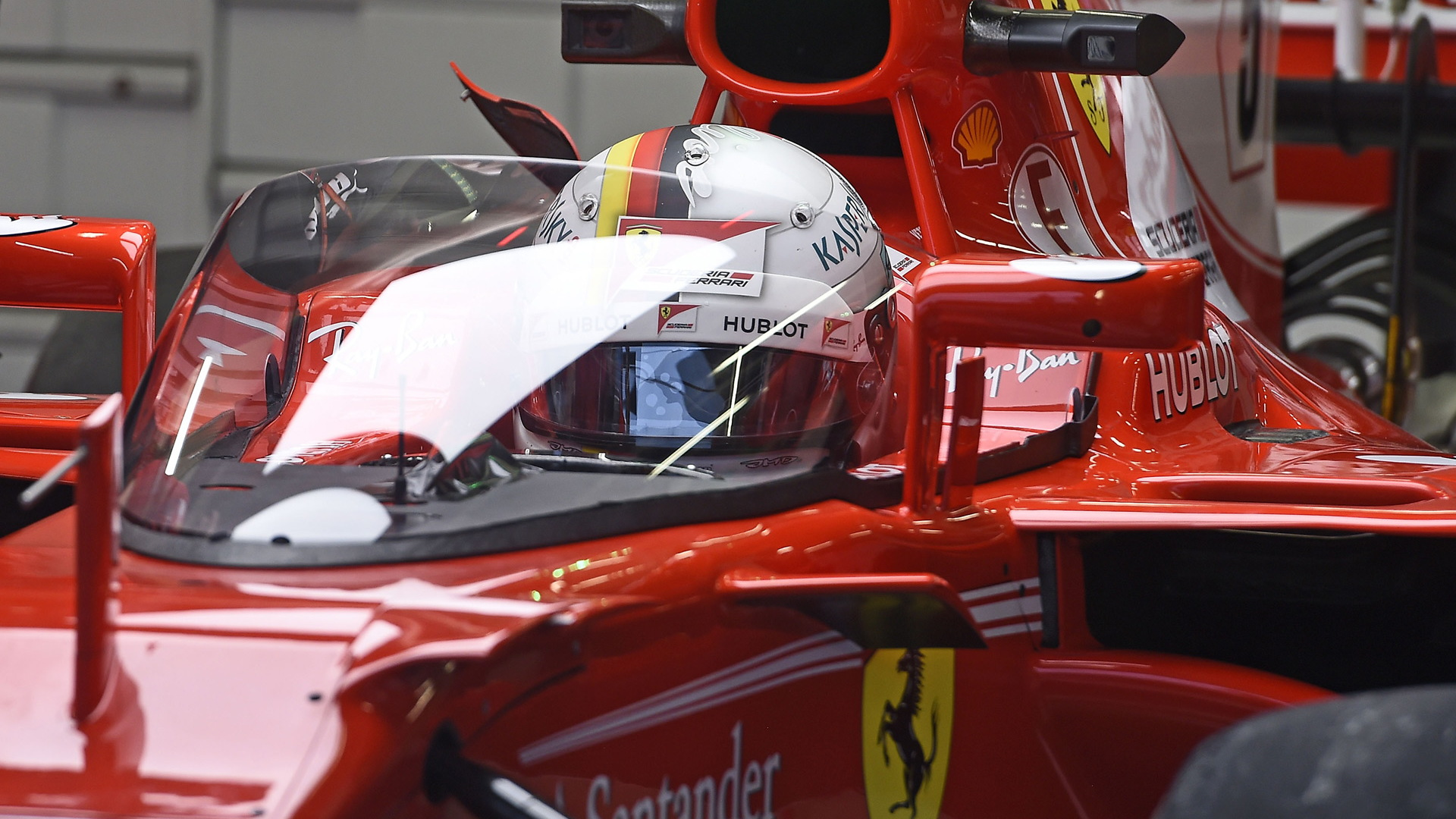 Ferrari's Sebastian Vettel tests Formula One's proposed Shield cockpit protection system