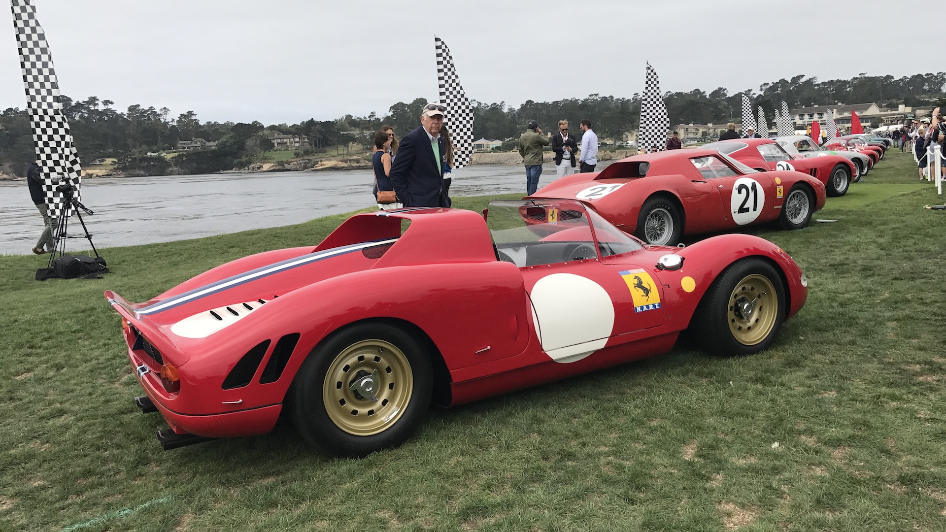 Ferraris at the 2017 Pebble Beach Concours d'Elegance