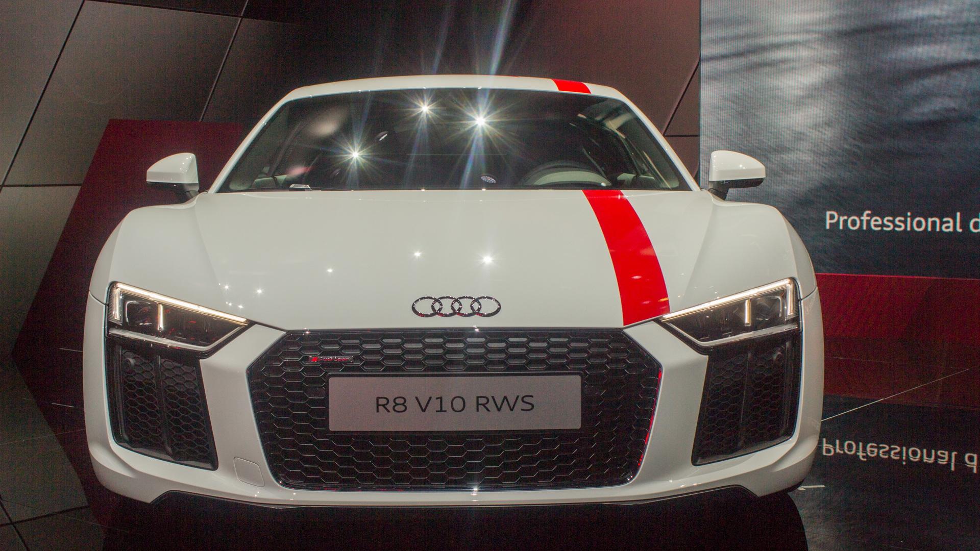 2018 Audi R8 RWS, 2017 Frankfurt Motor Show