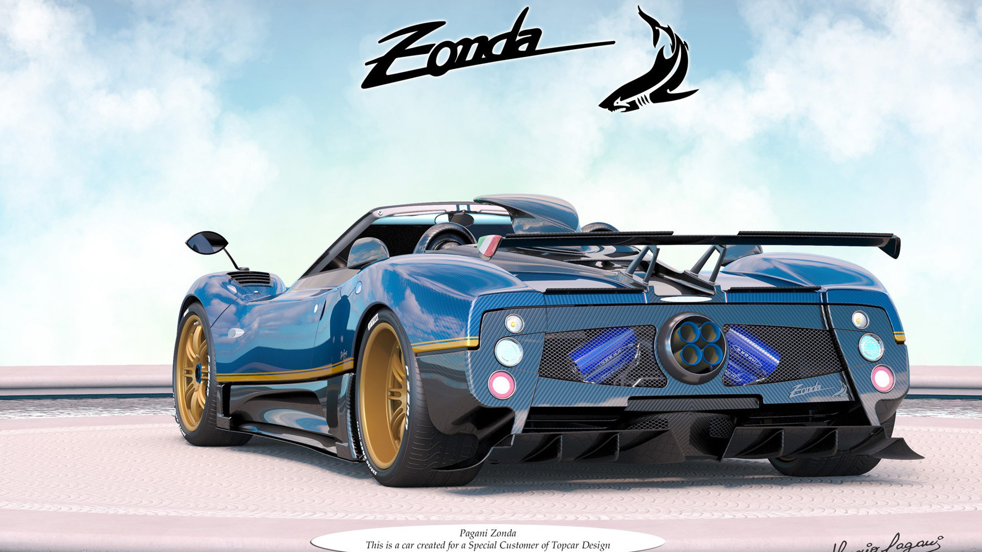 Pagani Zonda commissioned by a customer of TopCar Design