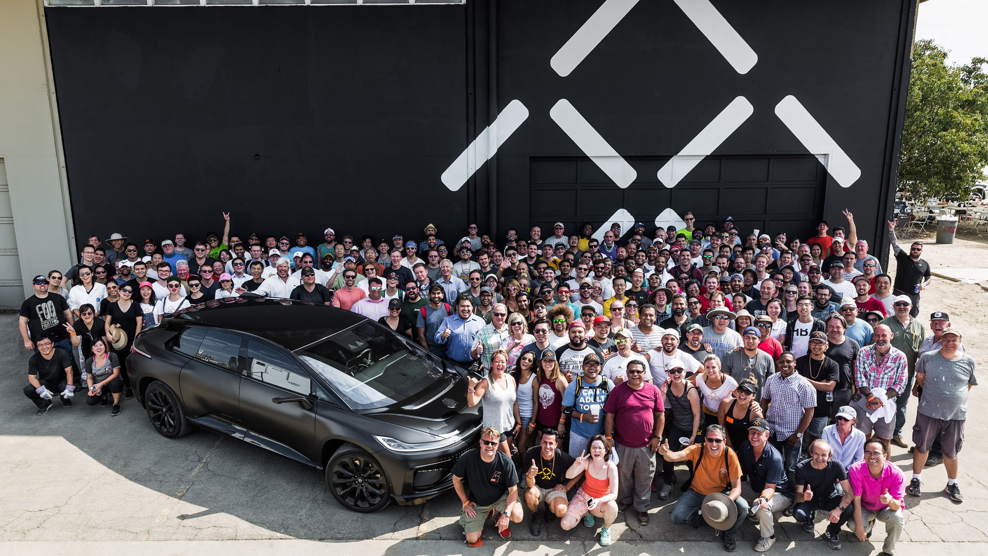 Faraday Future plant in Hanford, California