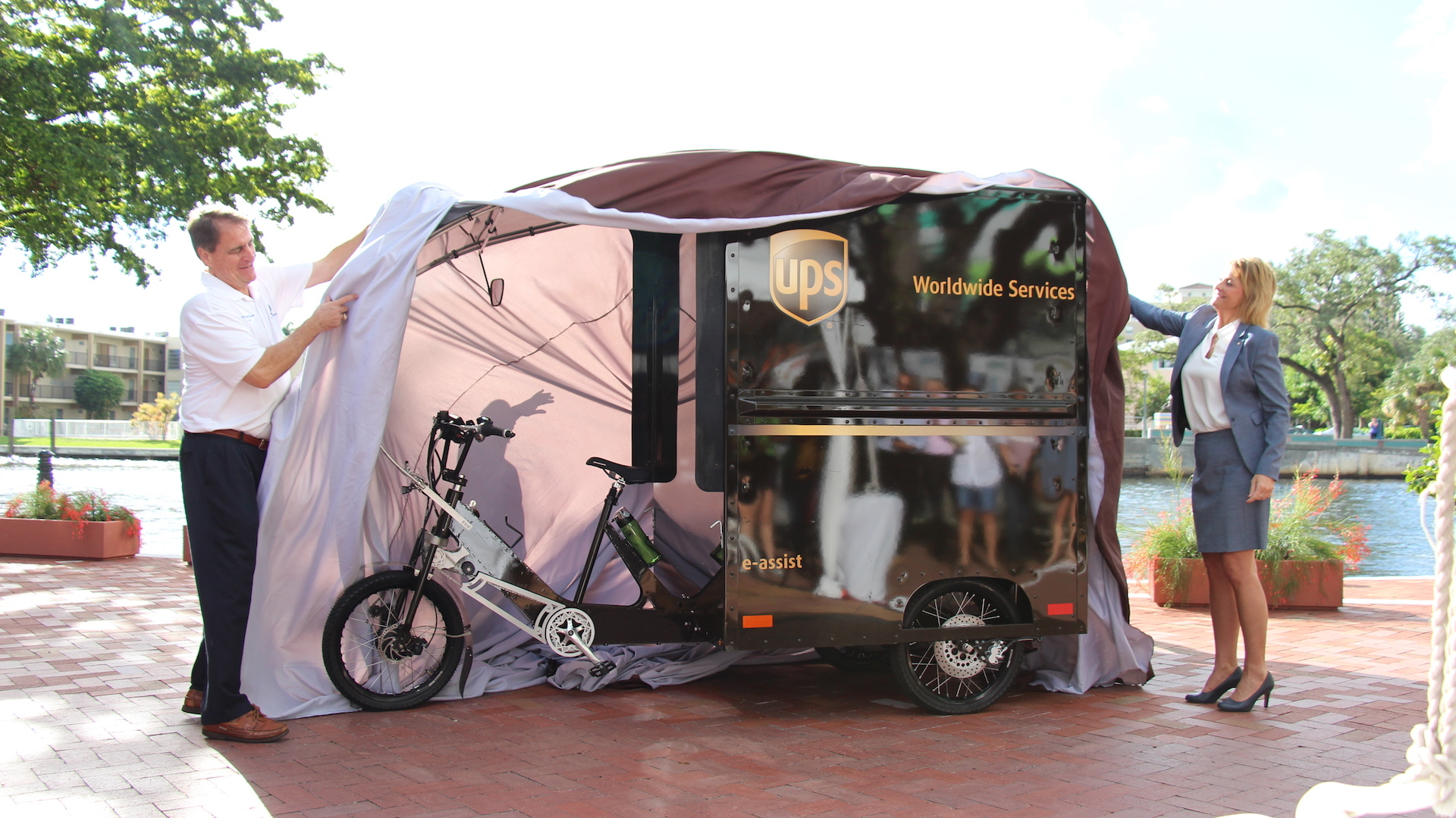 UPS electric trike launch in Fort Lauderdale, Florida