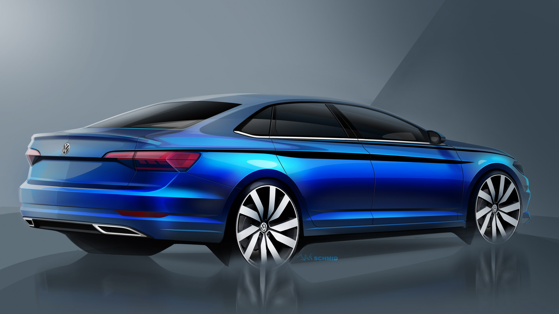 Teaser for 2019 Volkswagen Jetta debuting at 2018 Detroit auto show