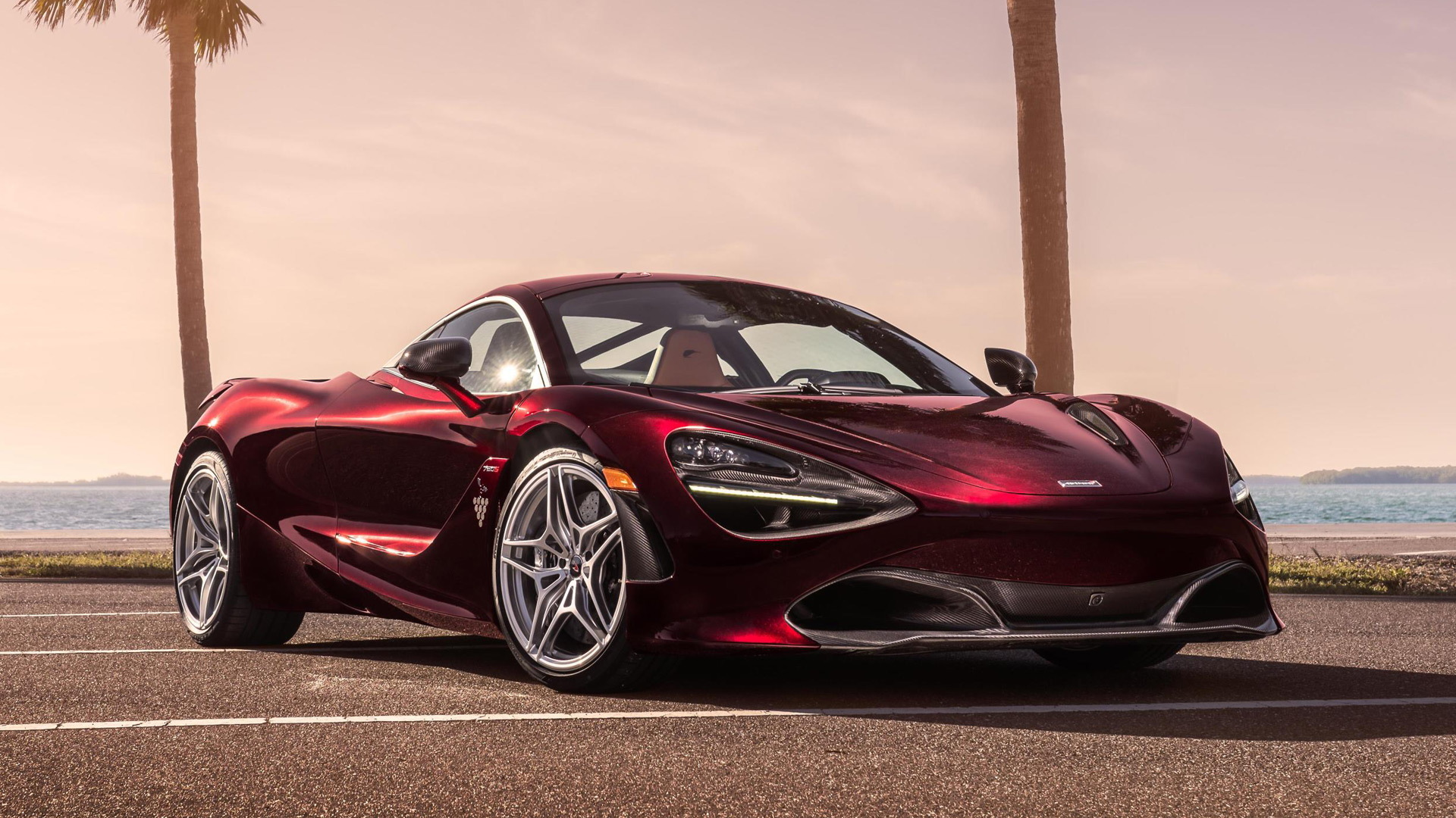 McLaren 720S finished in bespoke Nerello Red paint