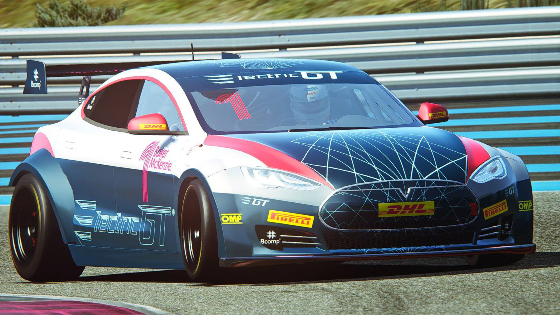 Tesla Model S P100D Electric Production Car Series race car