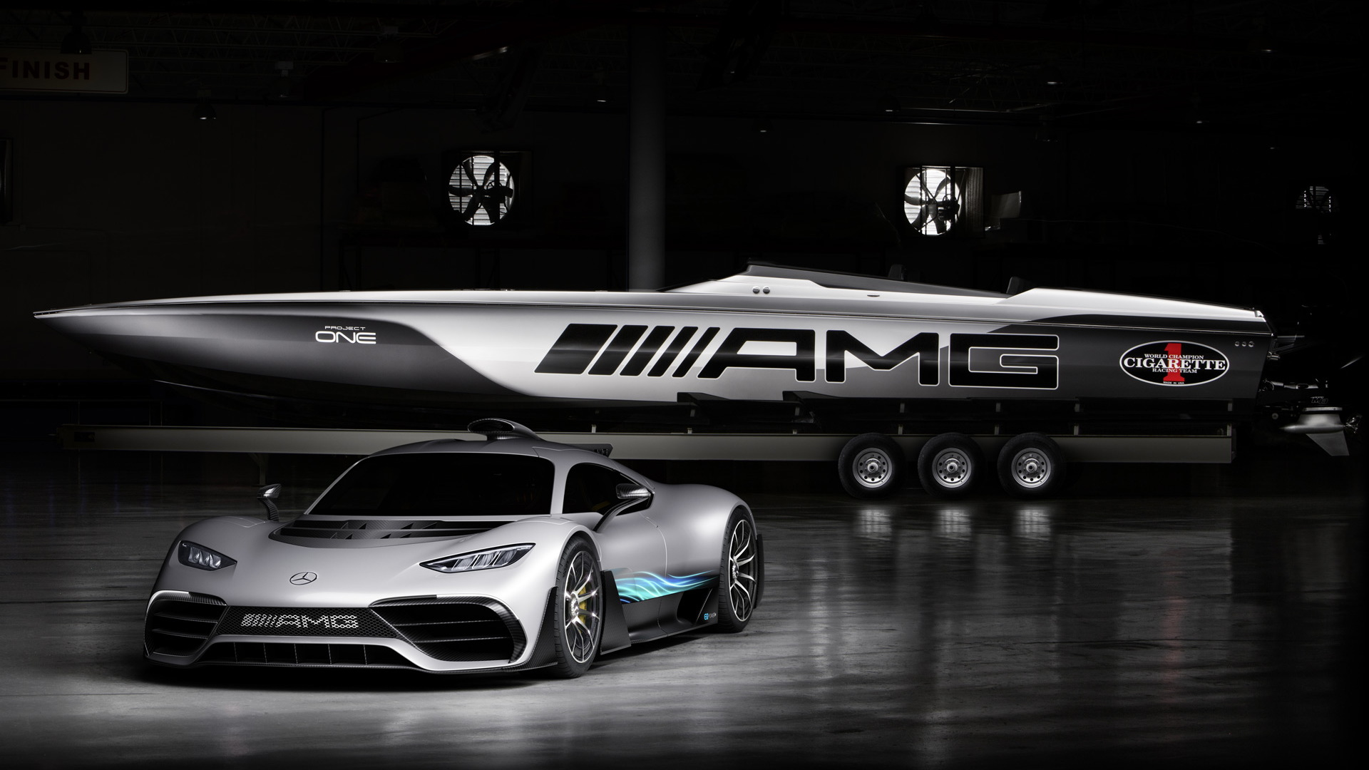 2018 Cigarette Racing 515 Project One with the Mercedes-AMG Project One