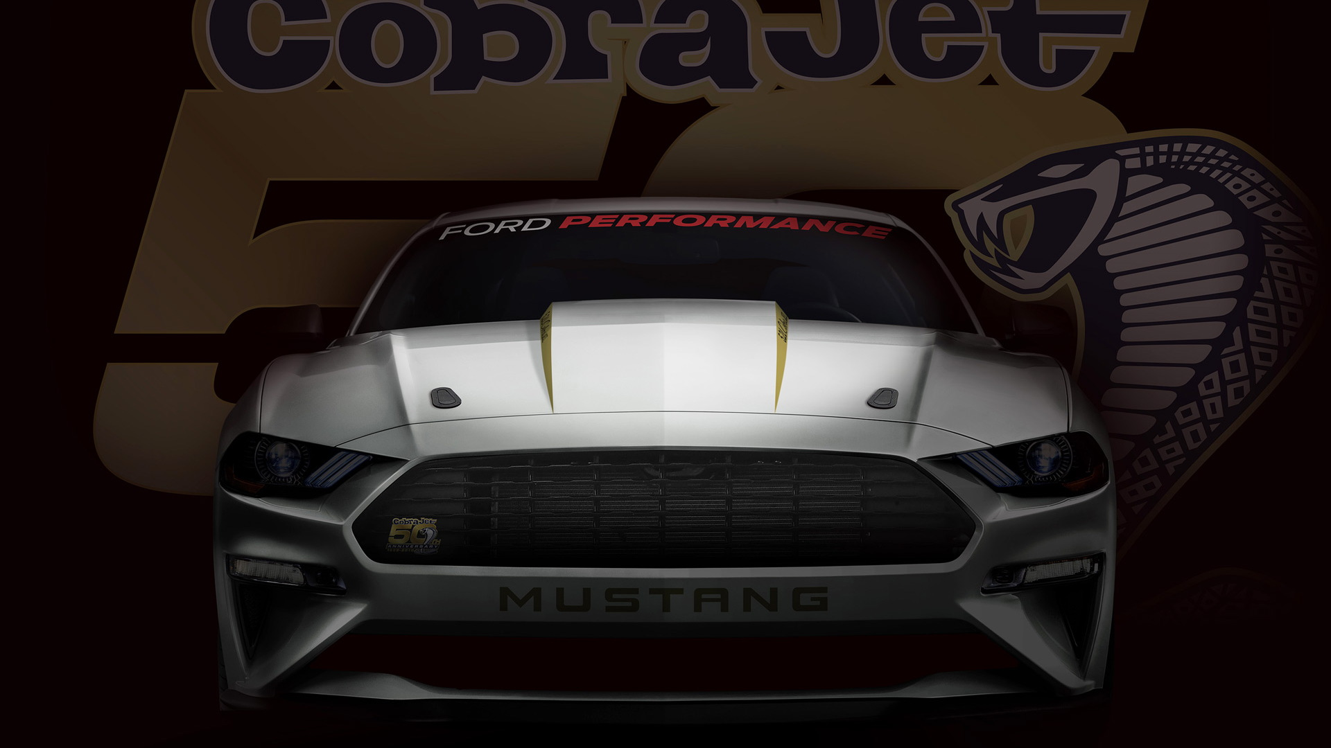 Teaser for 2018 Ford Mustang Cobra Jet drag race car