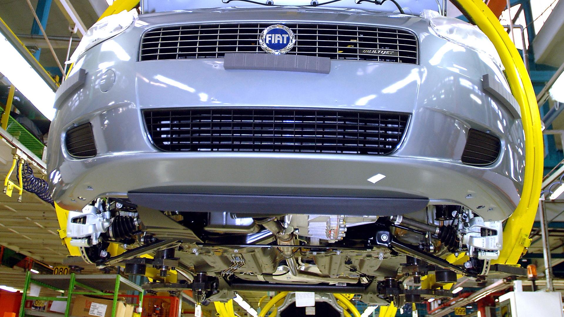 Fiat Punto production at Miafiori plant