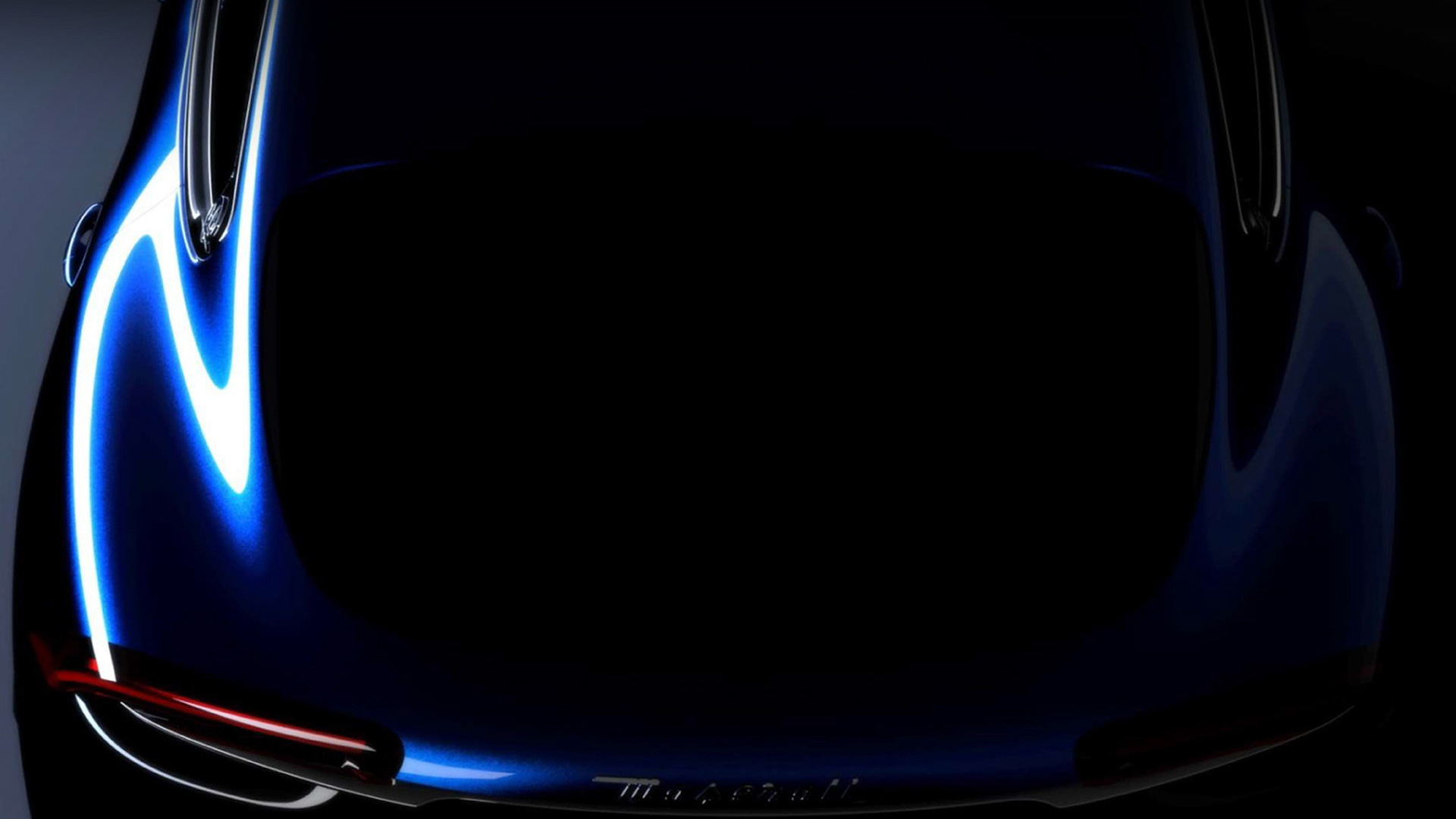 Teaser for Maserati SUV