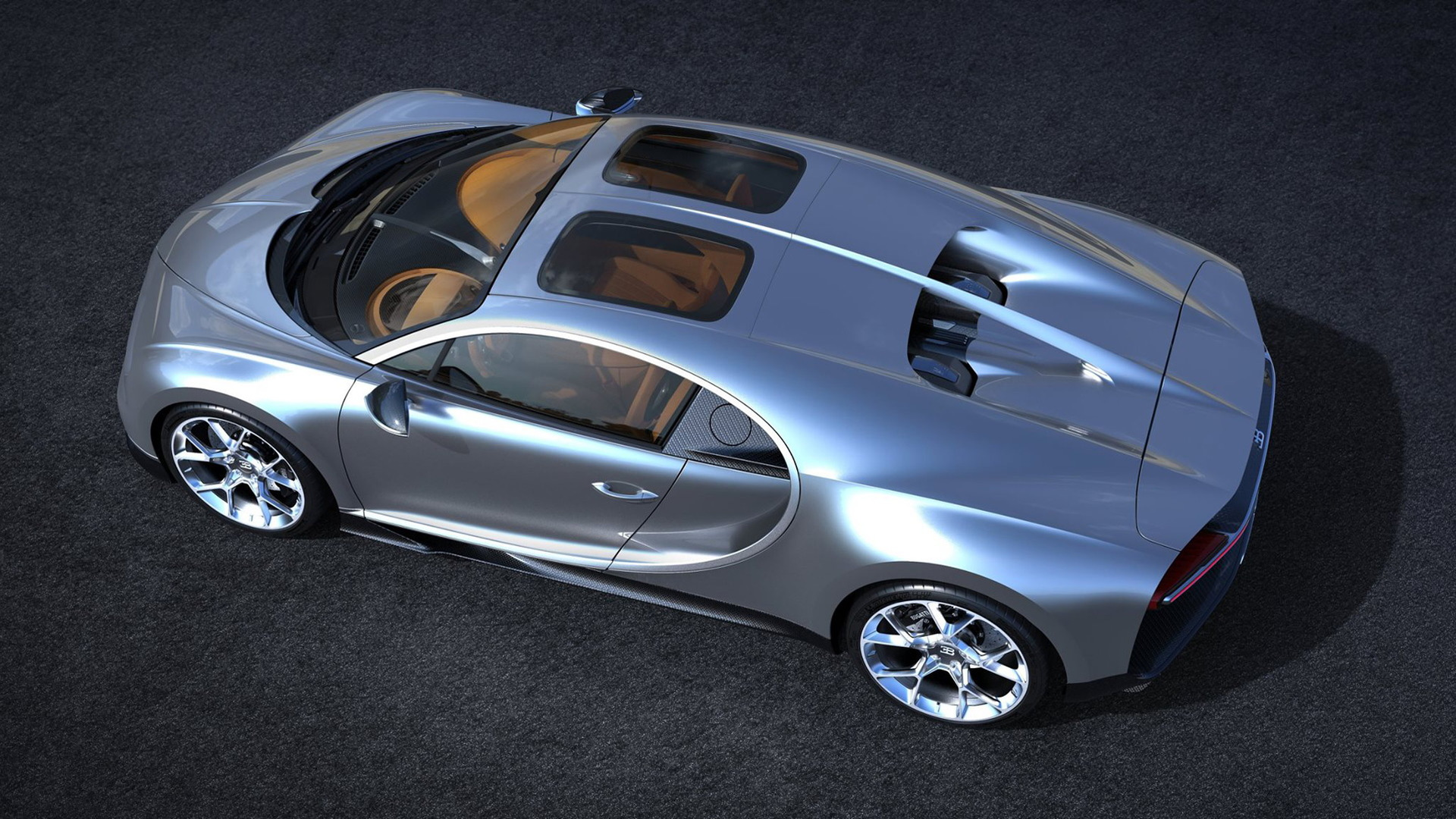 Bugatti Chiron with Sky View roof option