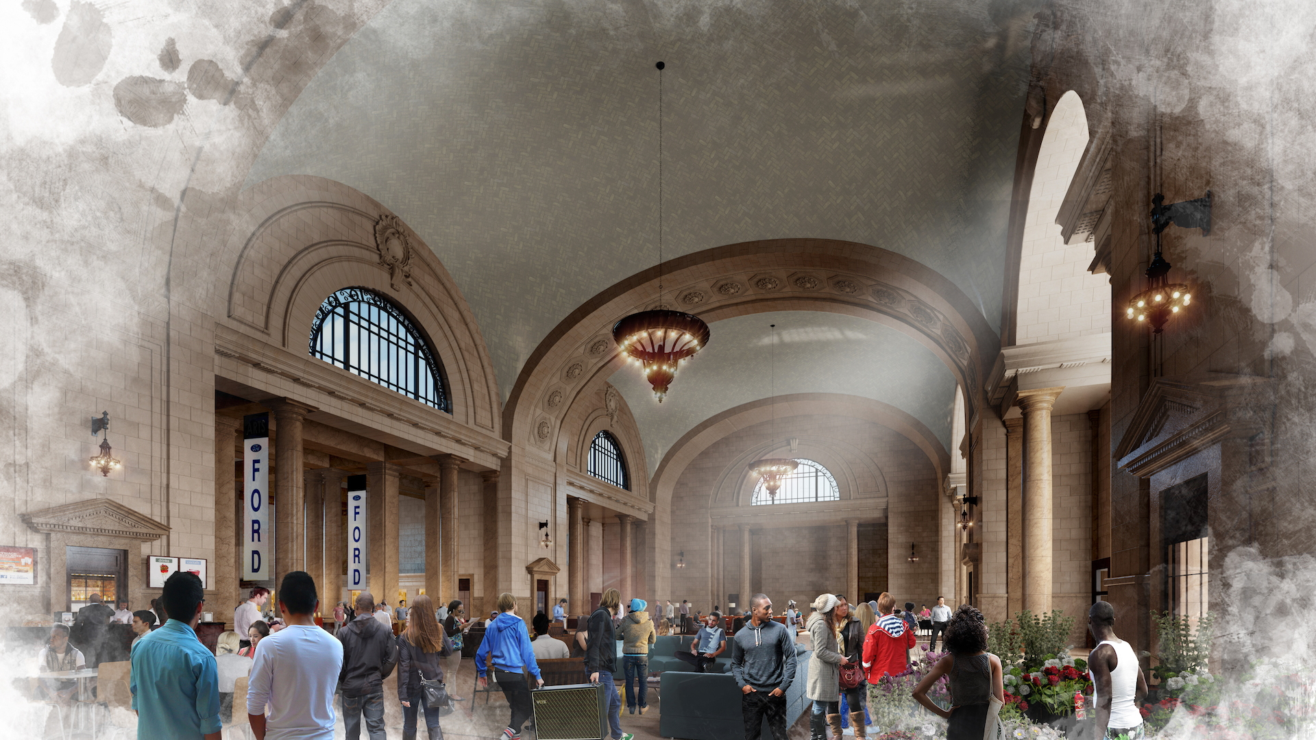 Ford Michigan Central Station renderings