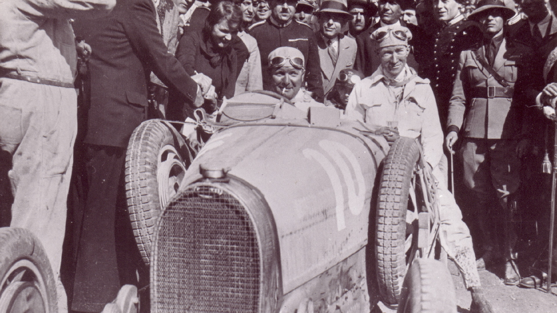 Albert Divo at the wheel of a Bugatti Type 35 at the 1929 Targa Florio