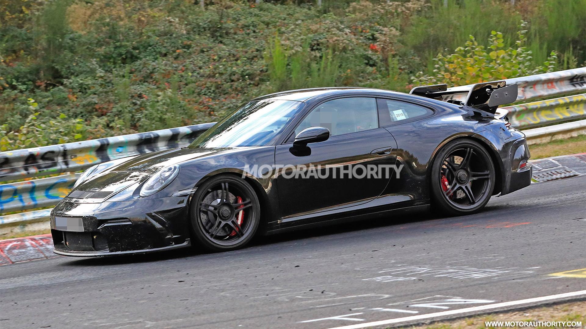 2021 Porsche 911 GT3 spy shots - Image via S. Baldauf/SB-Medien