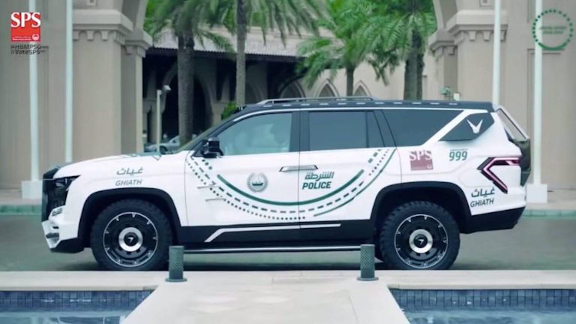 Dubai police Giath Chevy Tahoe-based police car