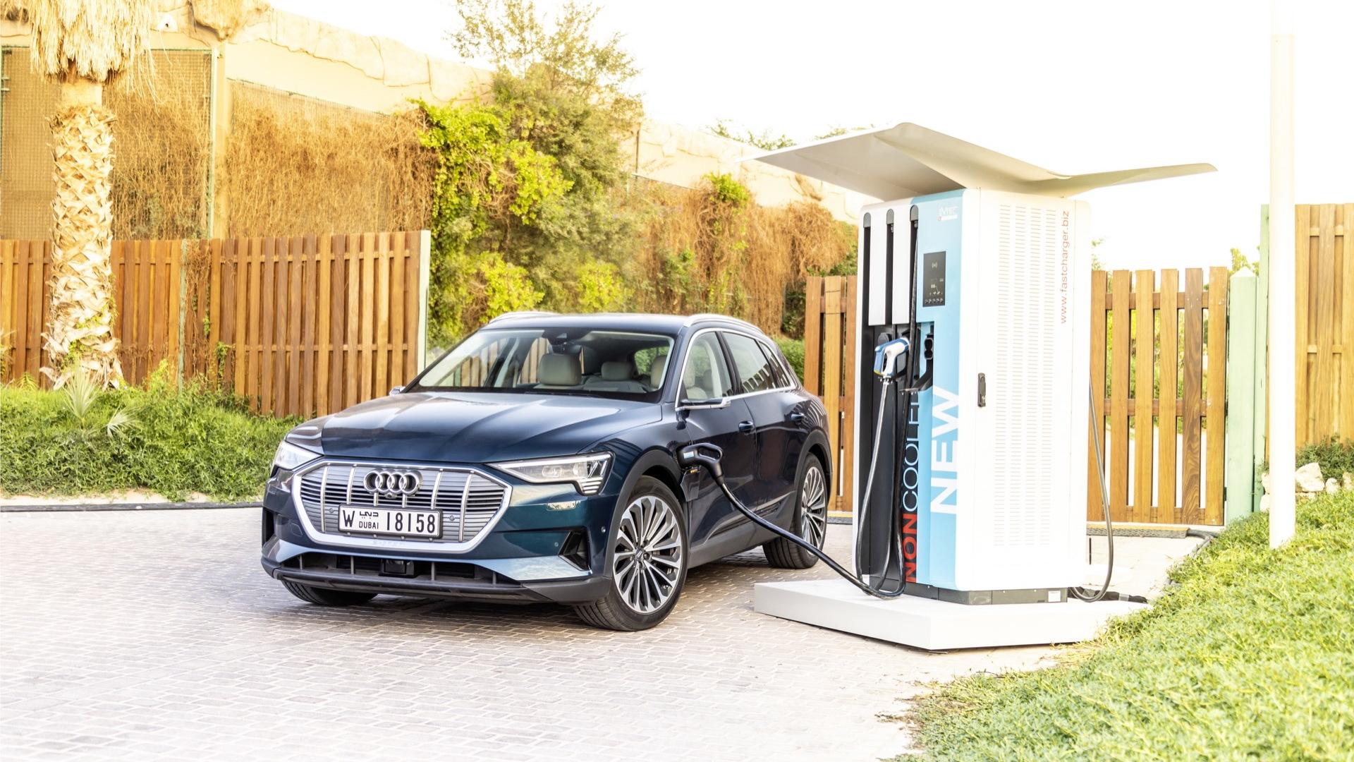 2019 Audi e-tron first drive  -  Abu Dhabi UAE, December 2018