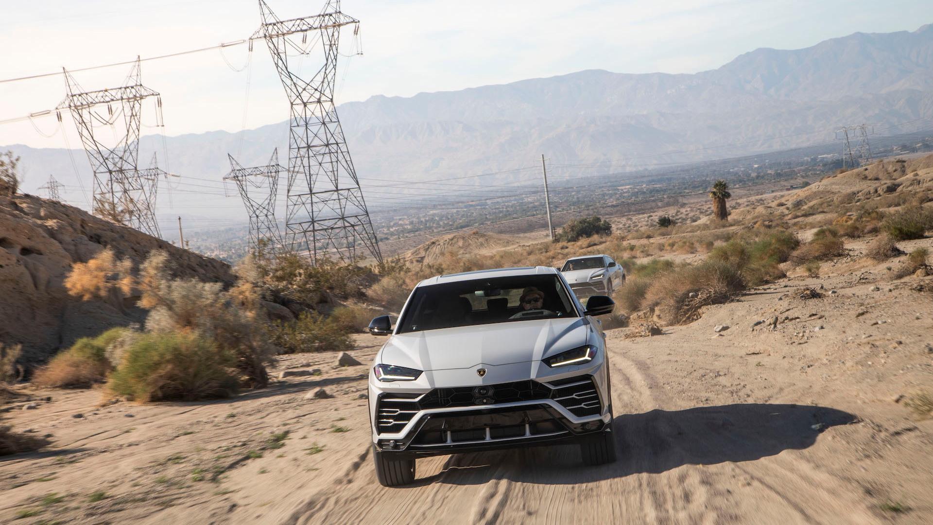2019 Lamborghini Urus, Palm Springs media drive, December, 2018