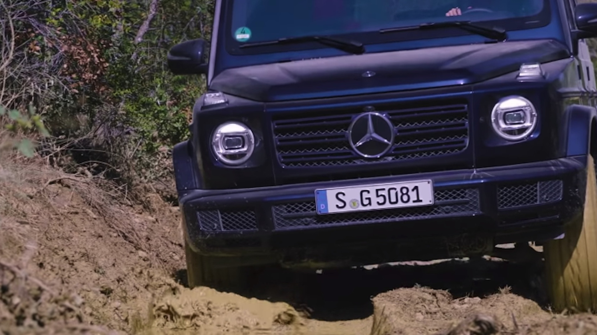 2019 Mercedes-Benz G-Class in the mud