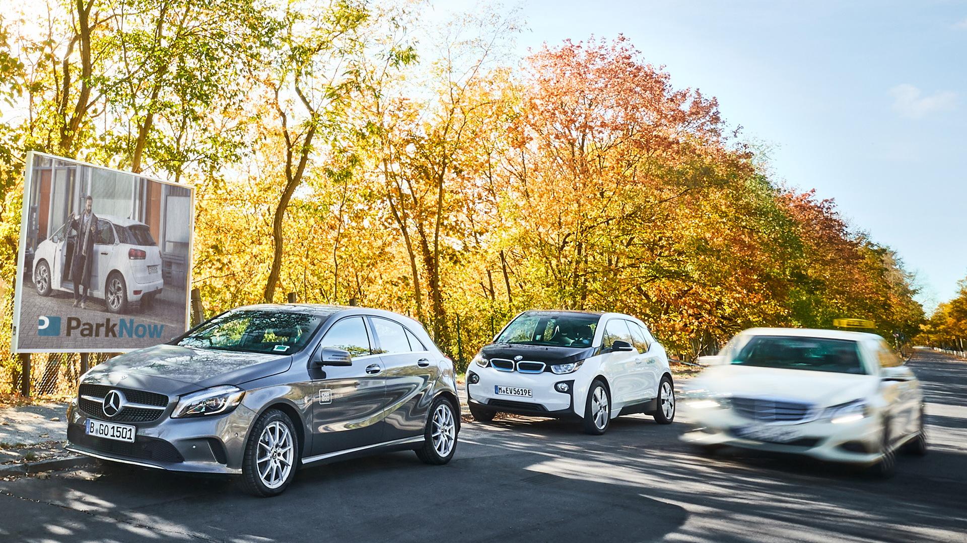 2018 Mercedes-Benz A-Class hatchback and 2018 BMW i3