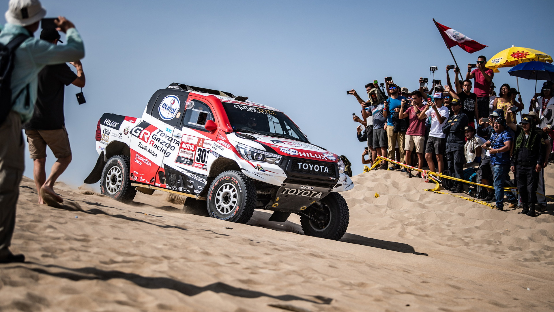 Toyota Hilux at the 2019 Dakar rally