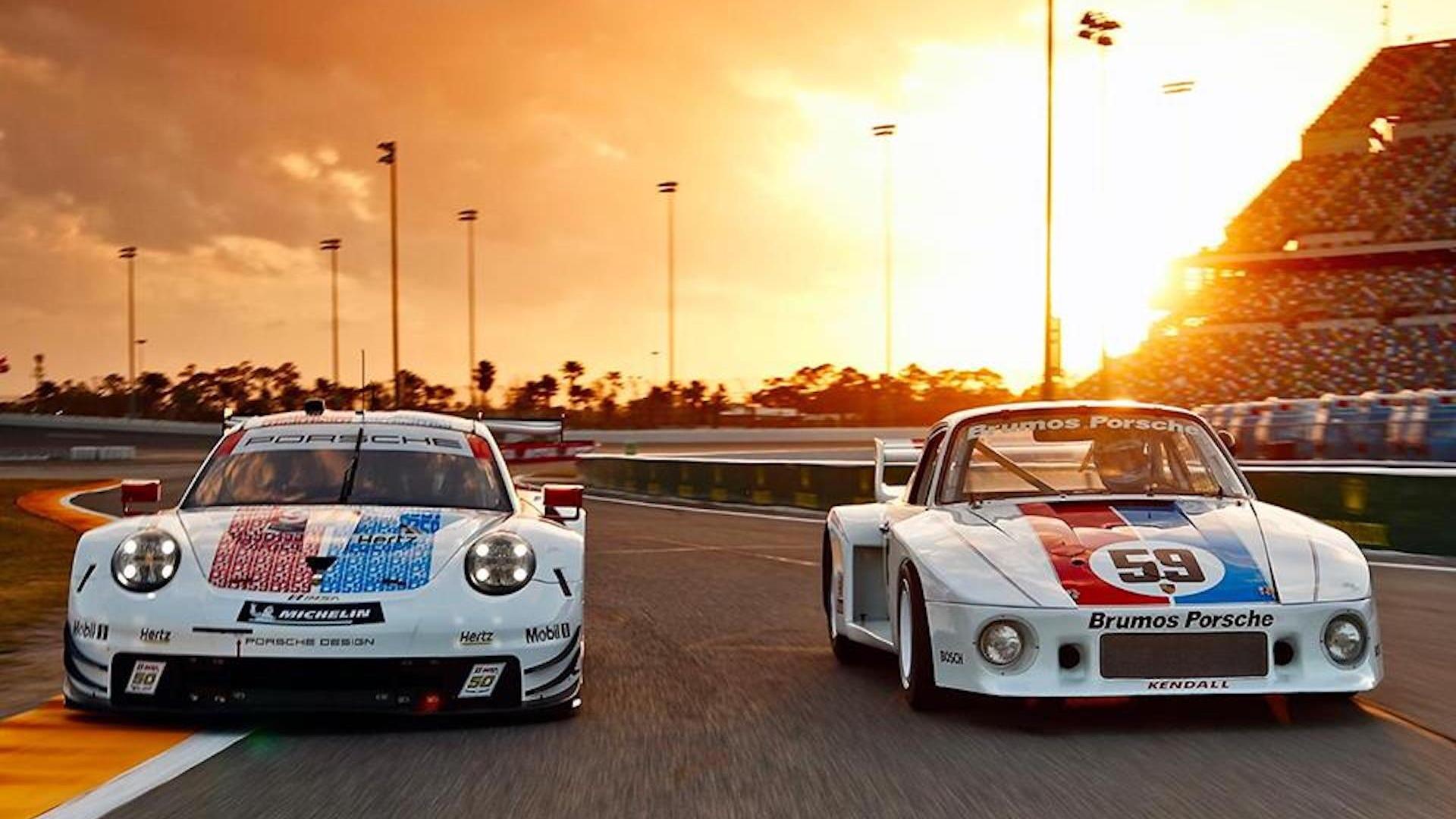 Porsche 911 RSR Brumos racing livery for 2019 Rolex 24 at Daytona