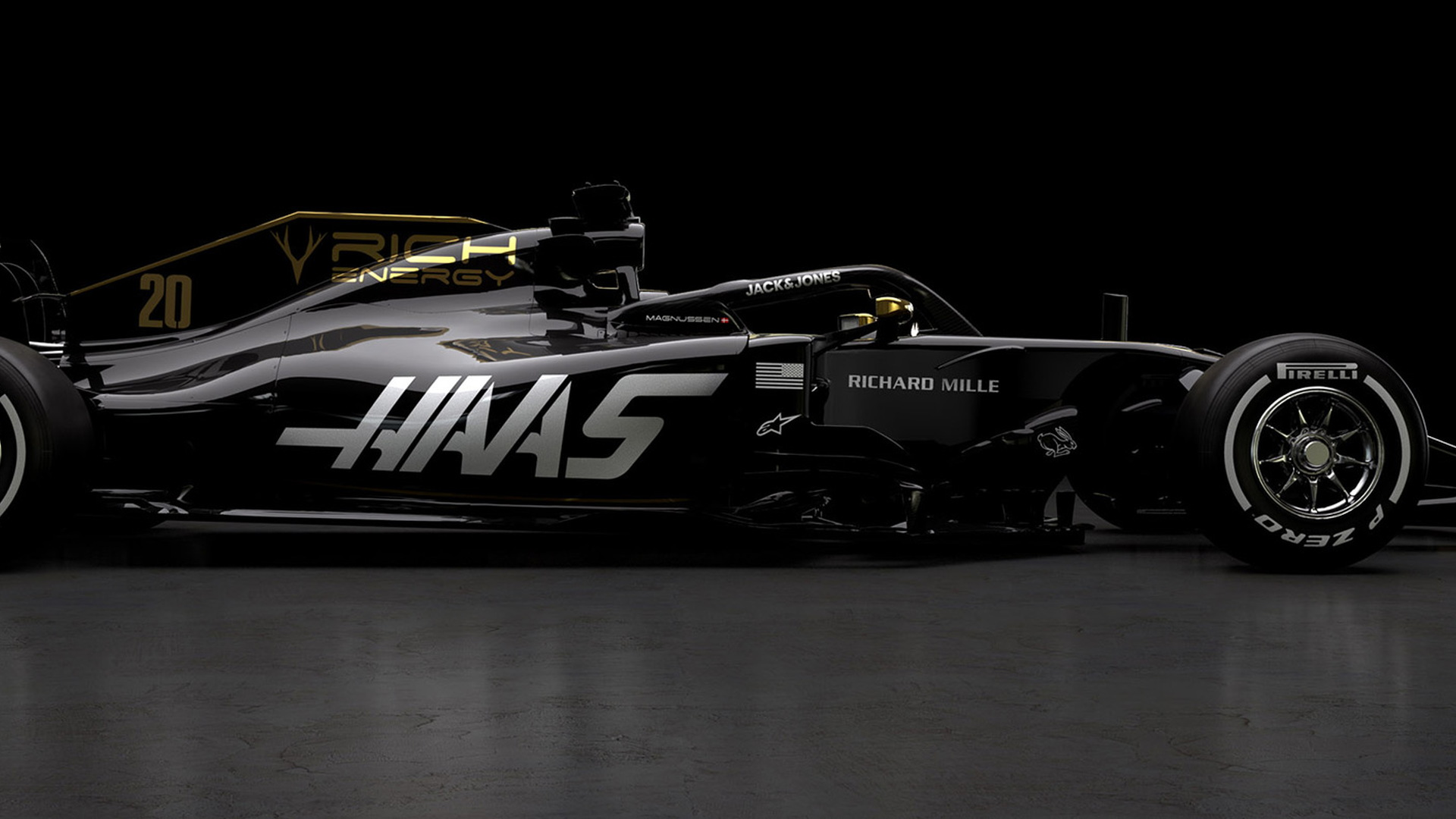 haas first to reveal 2019 f1 car. Black Bedroom Furniture Sets. Home Design Ideas