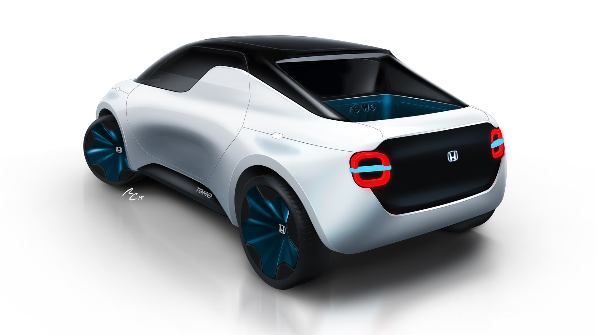 Teaser for Honda Tomo concept debuting at 2019 Geneva auto show