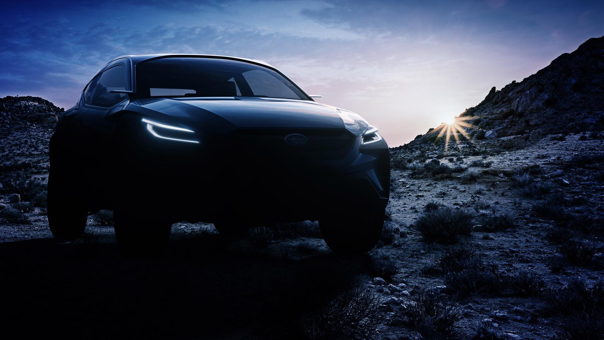 Teaser for Subaru Viziv Adrenaline Concept debuting at 2019 Geneva auto show