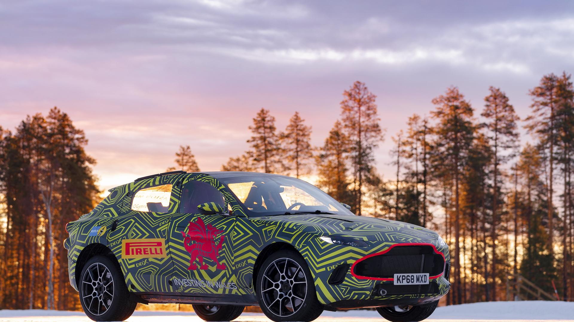 Aston Martin DBX prototype winter testing
