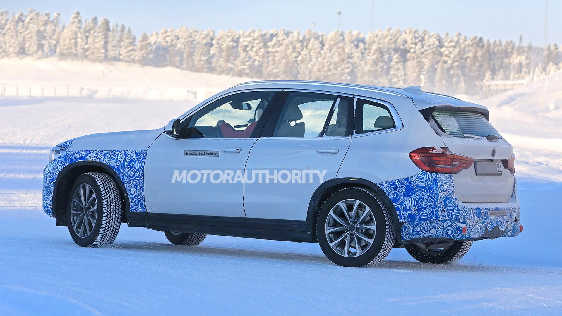 2021 BMW iX3 spy shots - Image via S. Baldauf/SB-Medien