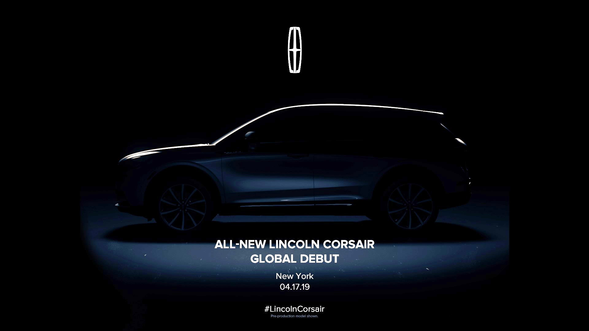 Teaser for 2020 Lincoln Corsair debuting at 2019 New York auto show