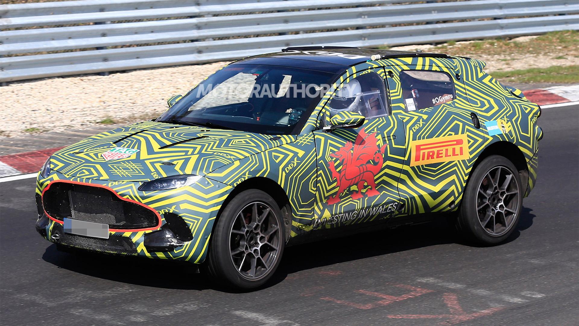 2020 Aston Martin DBX spy shots - Image via S. Baldauf/SB-Medien