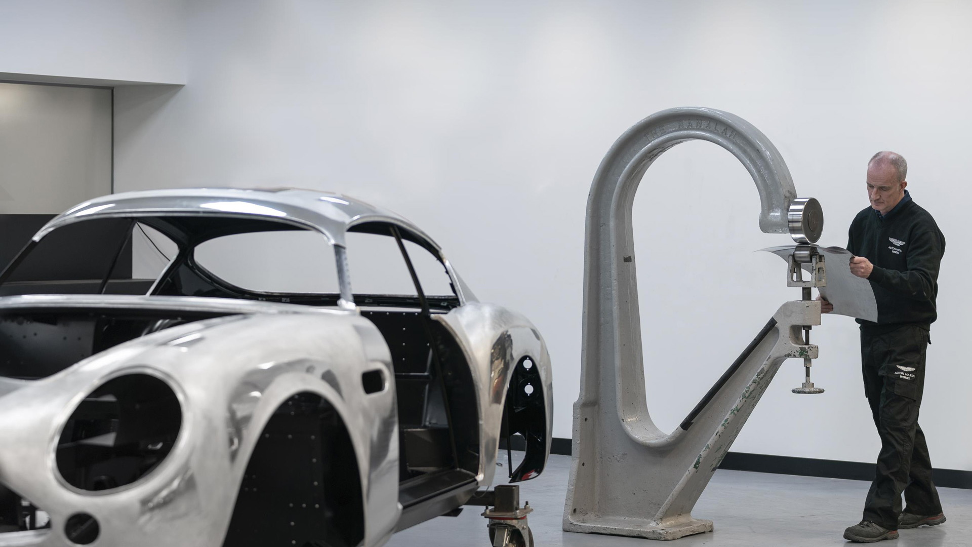 Production of bodies for Aston Martin DB4 GT Zagato continuation models - April 2019