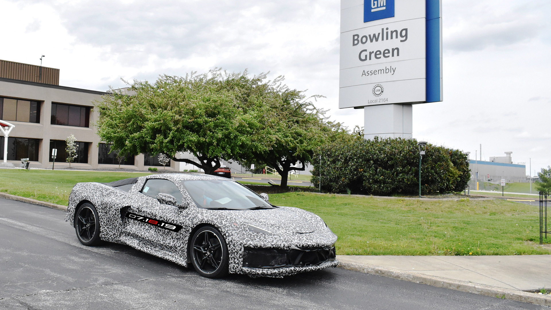 2020 Chevrolet Corvette prototype at Bowling Green Assembly plant