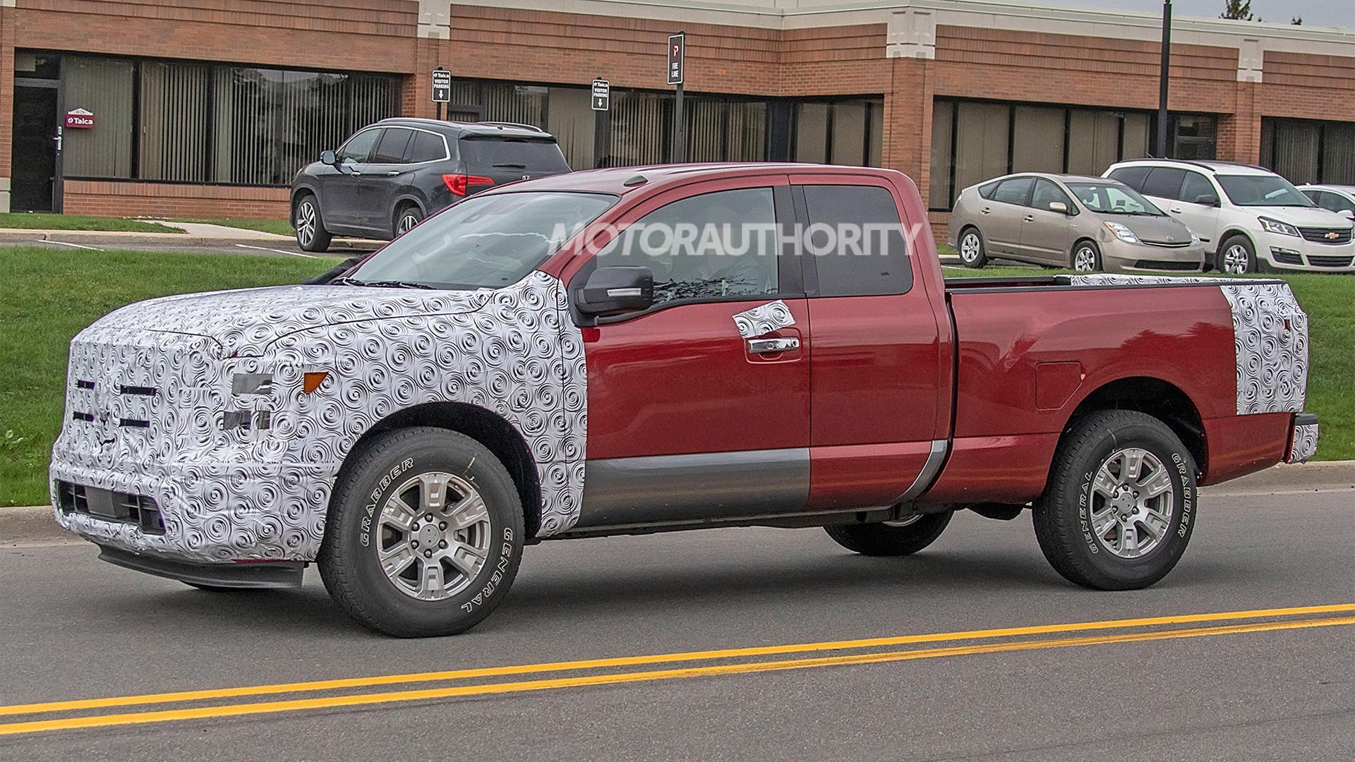 2020 Nissan Titan facelift spy shots - Image via S. Baldauf/SB-Medien