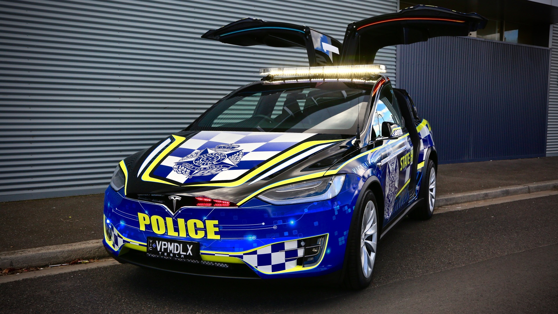 Victoria, Australia, Tesla Model X police car