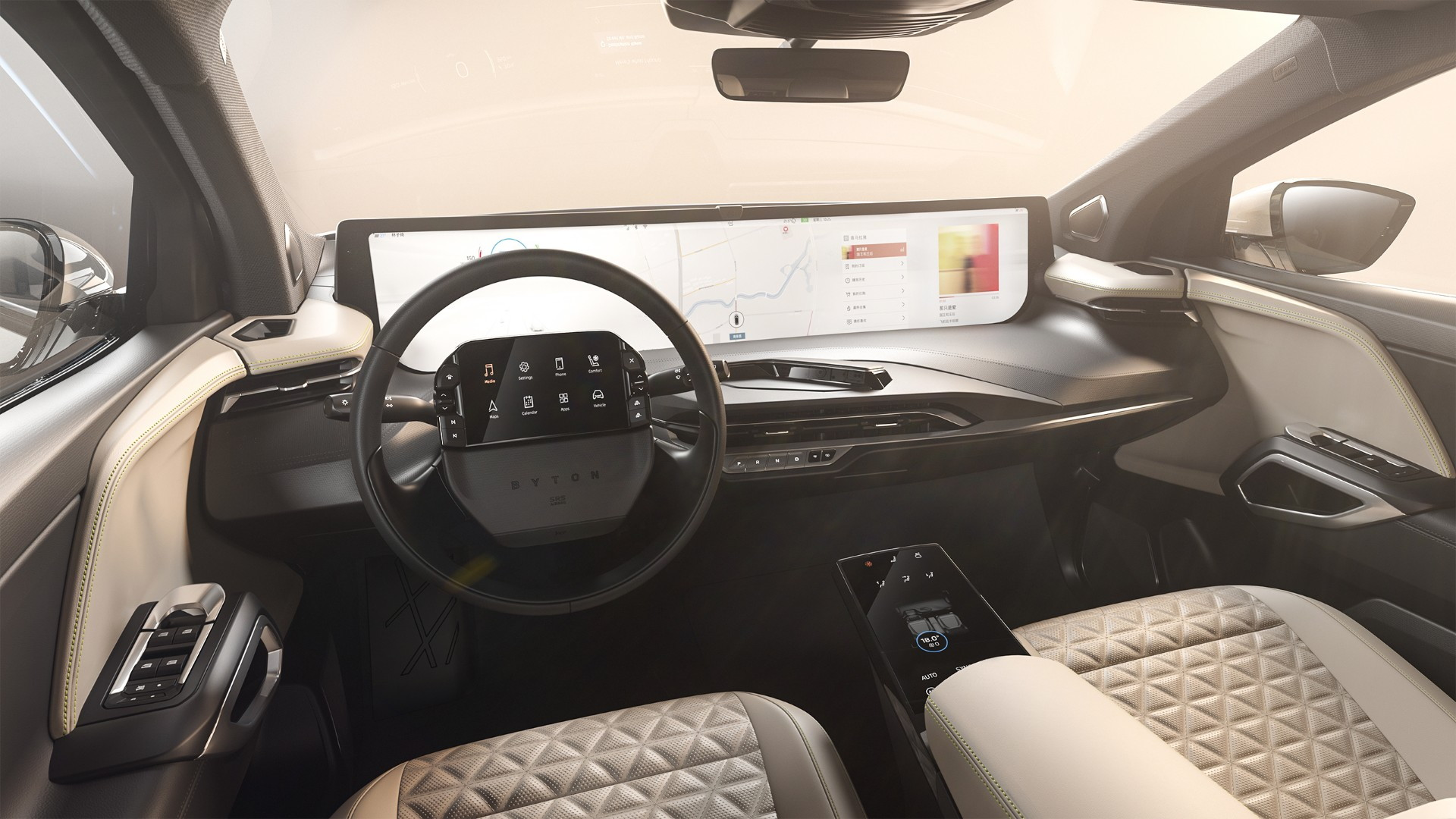 2021 Byton M-Byte production interior