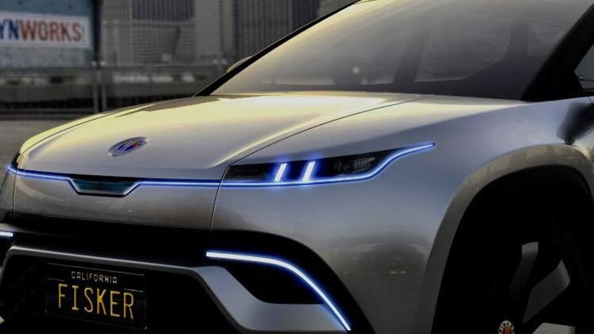 Teaser for Fisker electric SUV