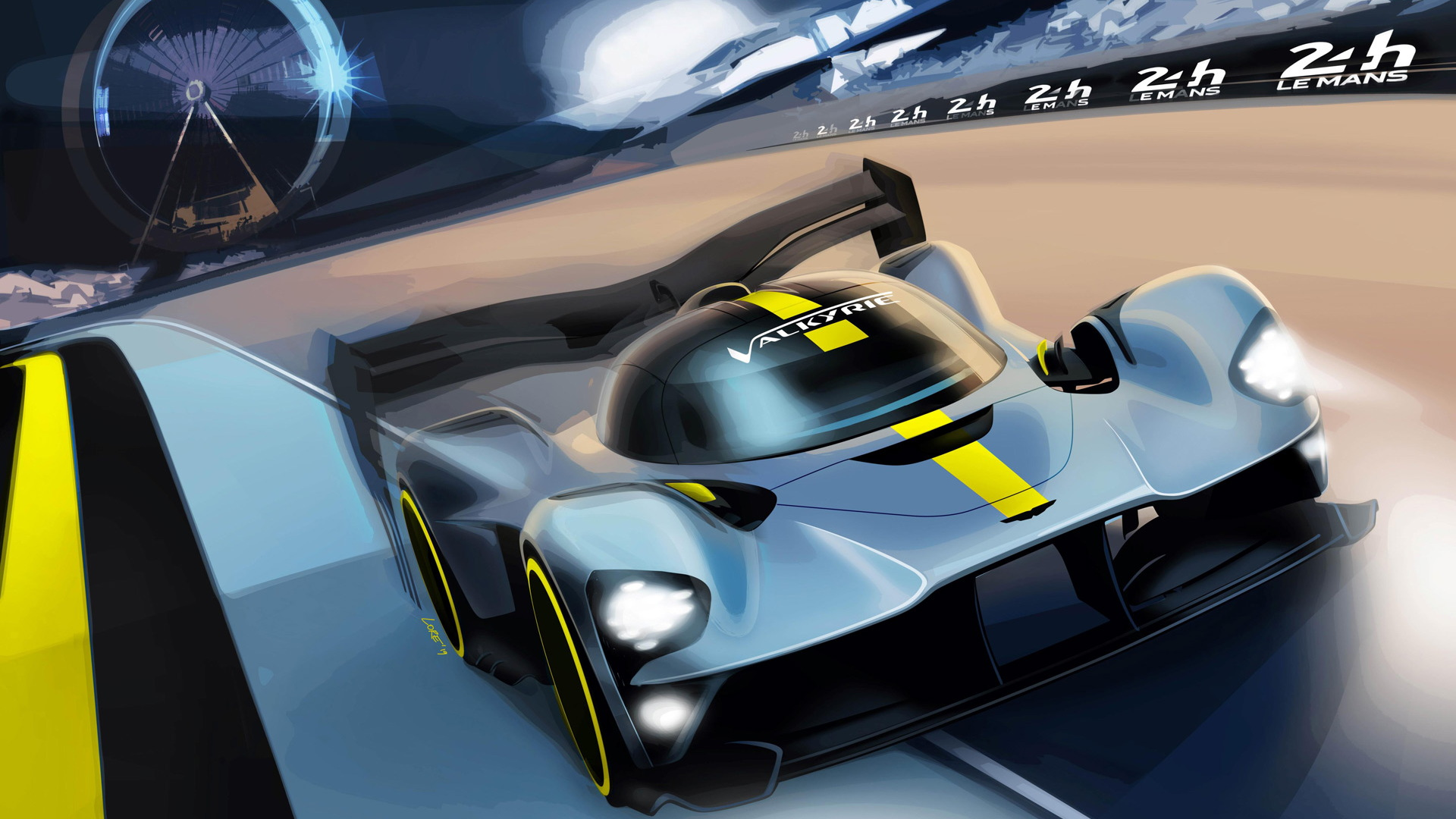 Teaser for 2020/2021 Aston Martin Valkyrie World Endurance Championship Hypercar class race car