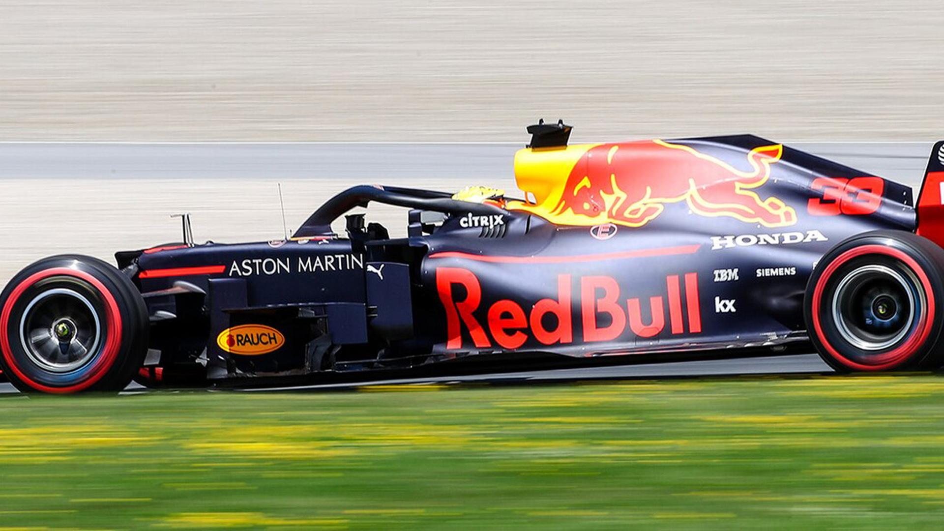 Aston Martin Red Bull Racing's Max Verstappen at the 2019 Formula One Austrian Grand Prix