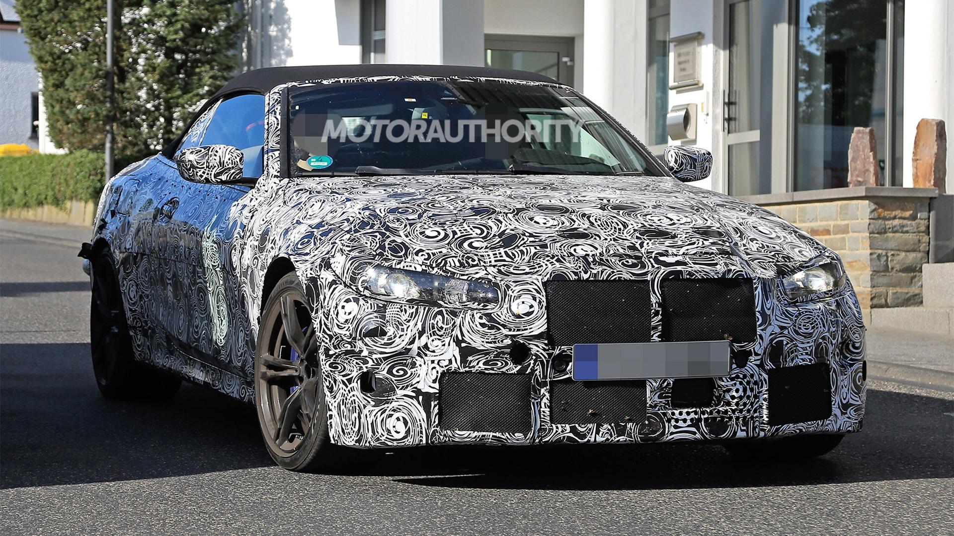 2021 BMW M4 Convertible spy shots - Image via S. Baldauf/SB-Medien