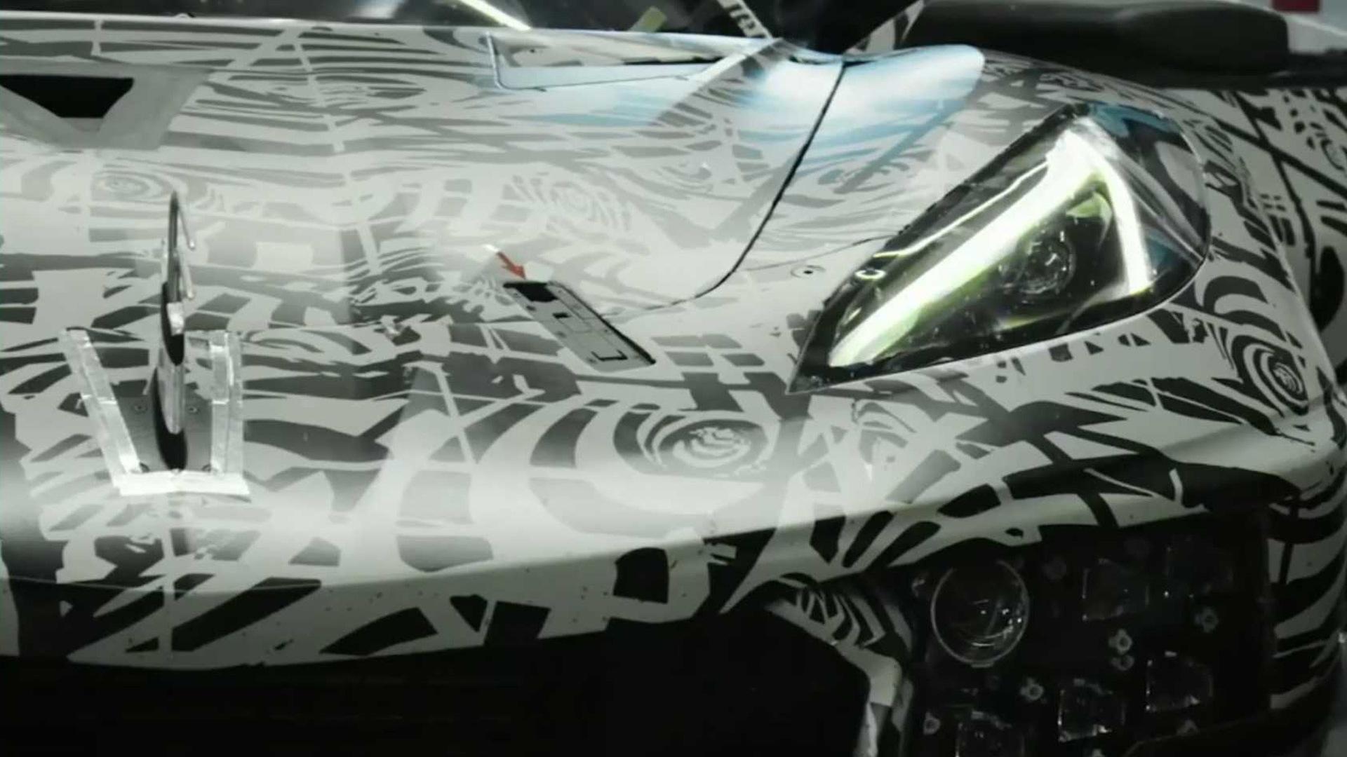2020 Chevrolet Corvette C8 R Roars In Front Of The Camera