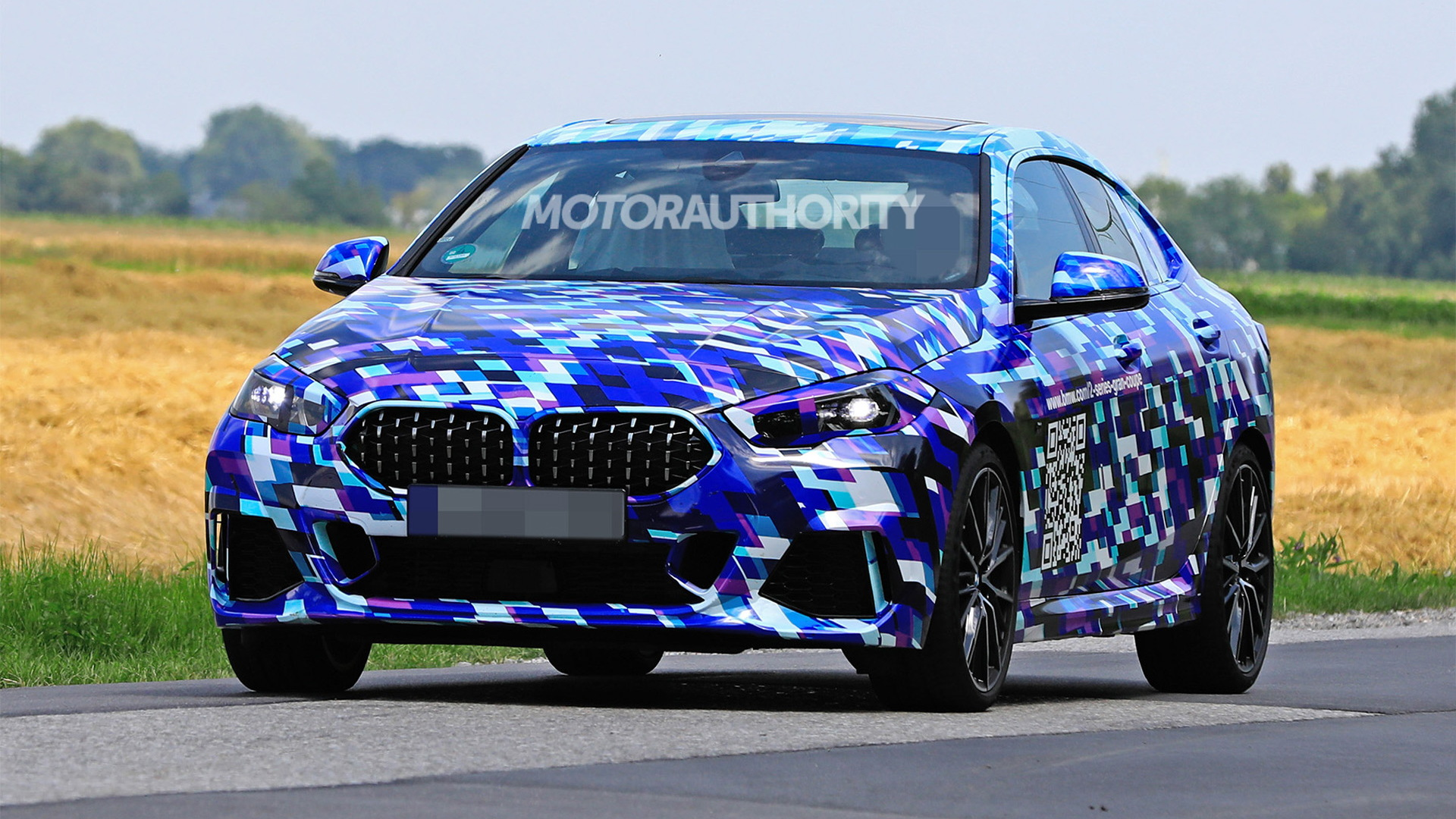 2021 BMW 2-Series Gran Coupe spy shots - Image via S. Baldauf/SB-Medien