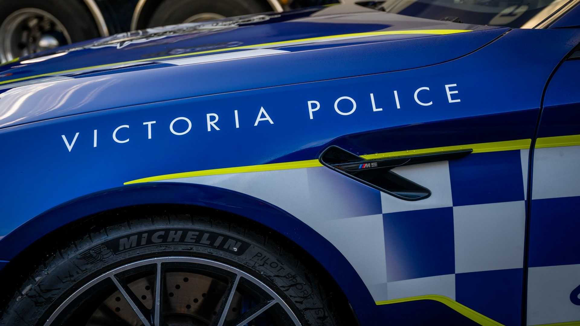BMW M5 Competition police car for Victoria Highway Patrol