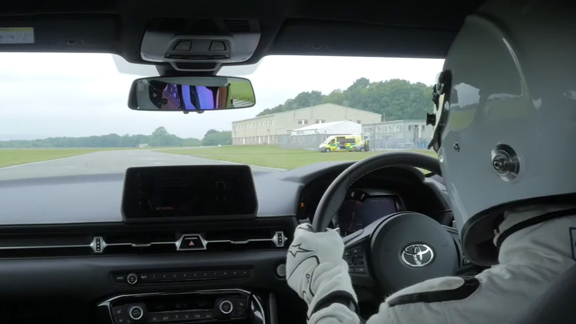 The Stig drives the 2020 Toyota Supra at the Top Gear Test Track