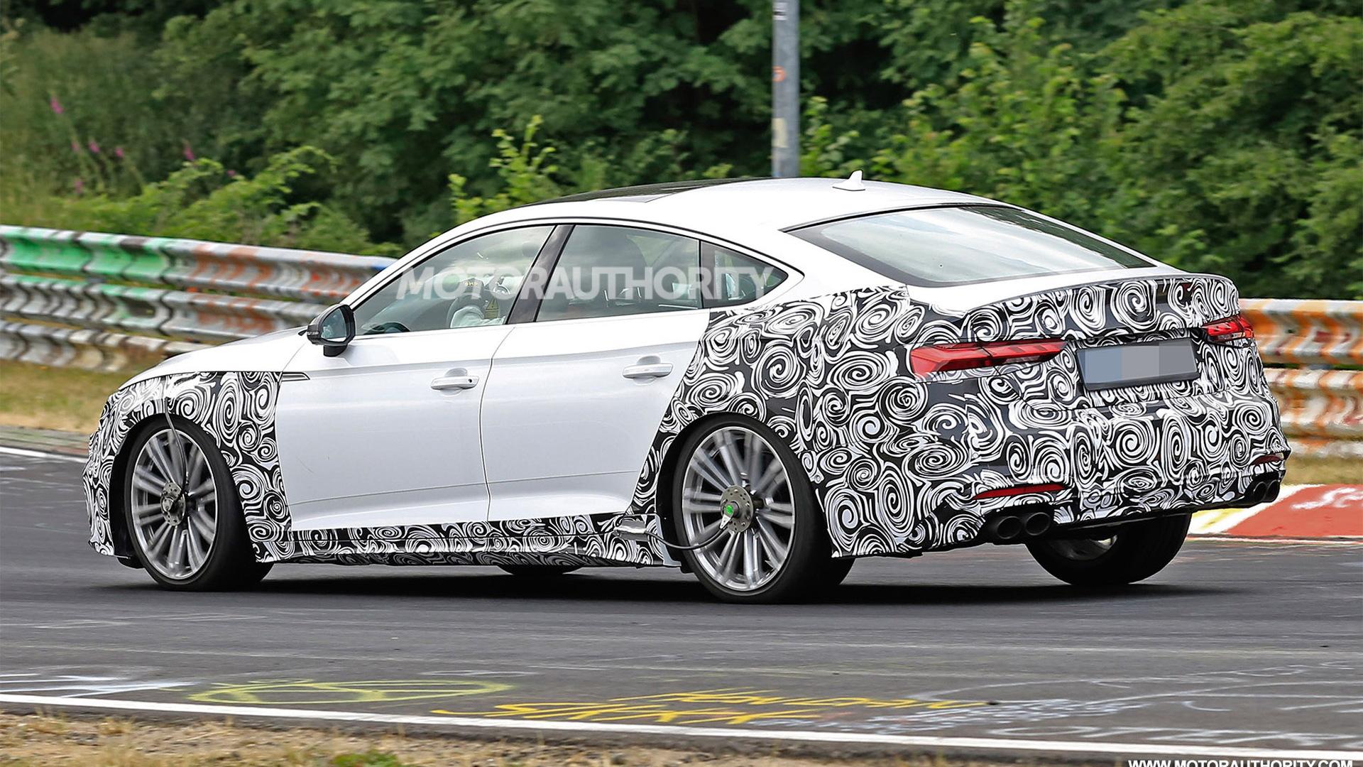 2021 Audi S5 Sportback facelift spy shots - Image via S. Baldauf/SB-Medien