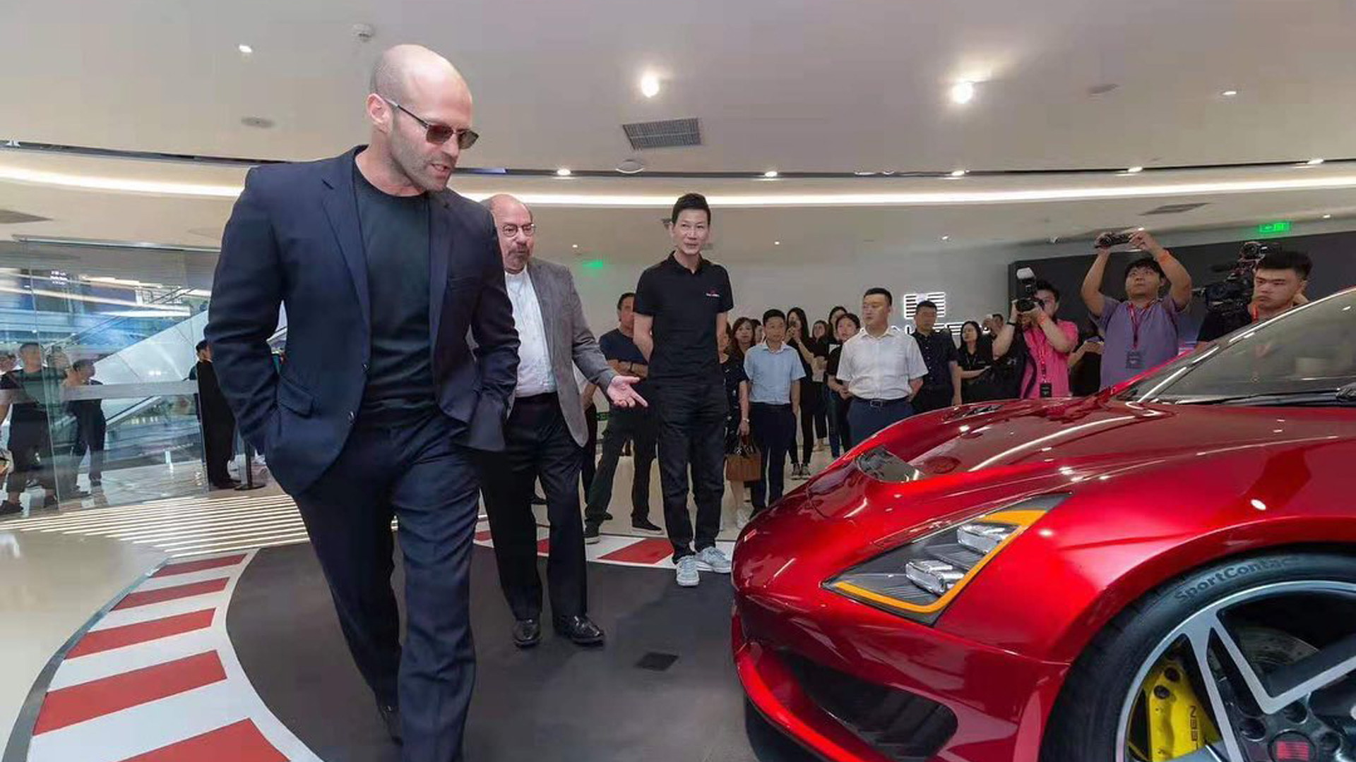 Jason Statham at Saleen launch in China