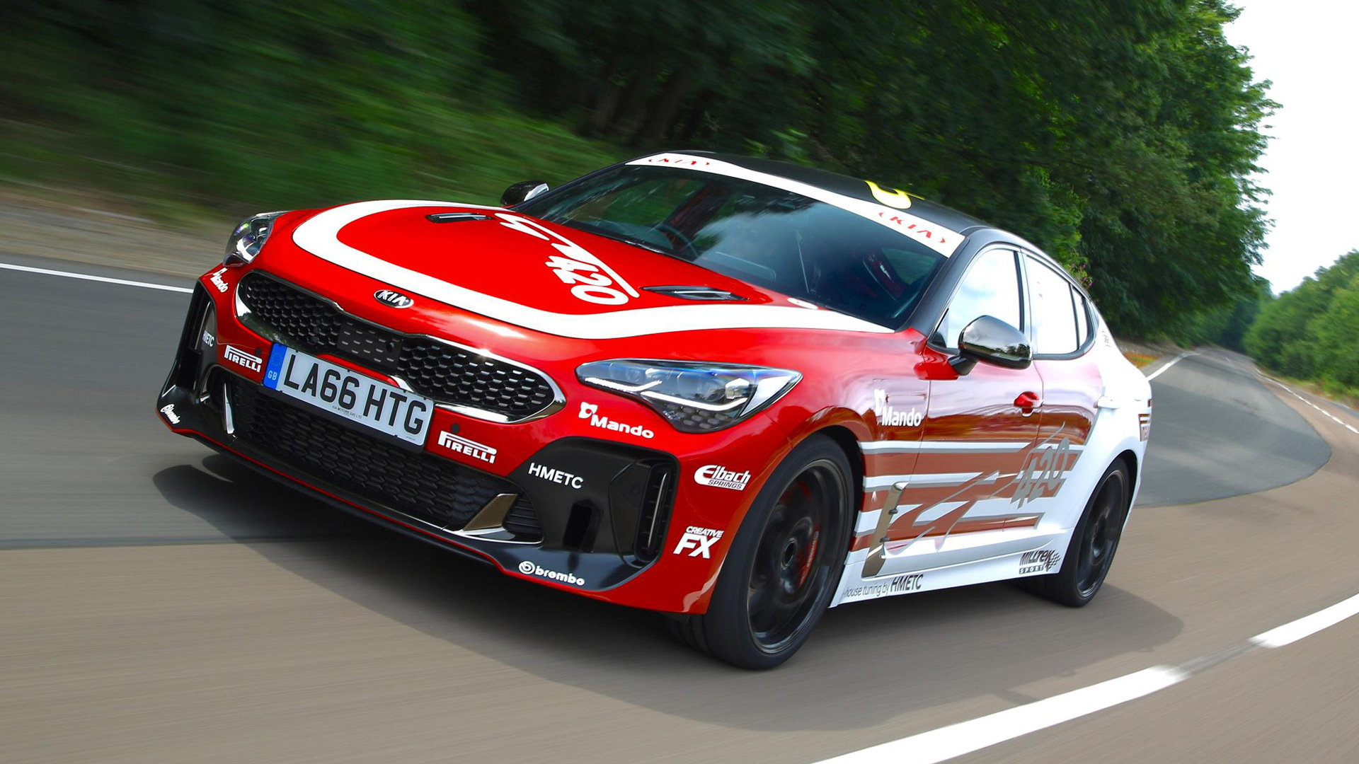 Kia has built a mad, 420bhp one-off Stinger track-day vehicle