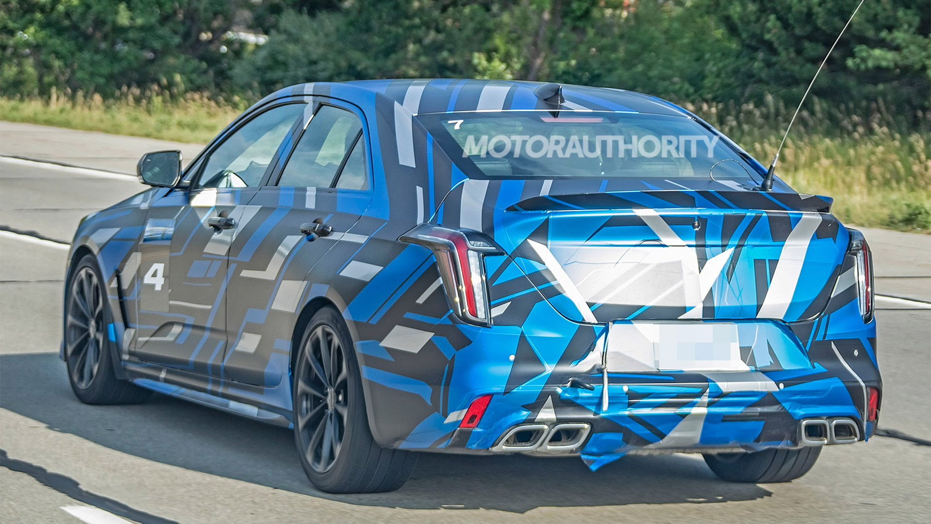 2020 Cadillac CT4-V Blackwing spy shots - Image via S. Baldauf/SB-Medien