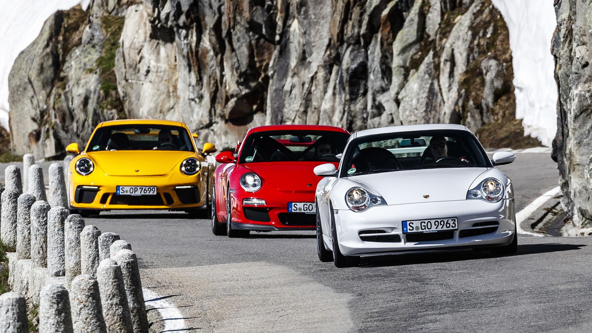996, 997 and 991 Porsche 911 GT3 generations